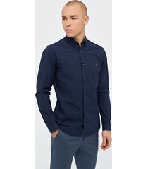 premium by jack & jones jprblaspring otto shirt l/s skjortor mörk blå