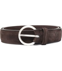 anderson's suede leather belt - brown