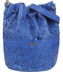 bolso azul stefani flores