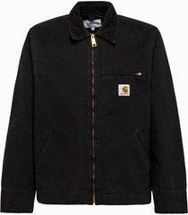 carhartt wip giacca detroit in denim nero