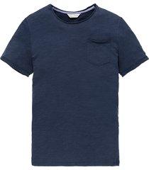 cast iron ctss202256 5118 r-neck slub jersey dress blues blauw