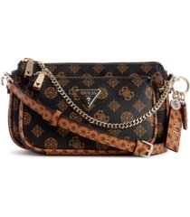 guess arie 2-in-1 double pouch signature crossbody