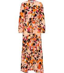 dhparis flower print maxi dress maxiklänning festklänning orange denim hunter