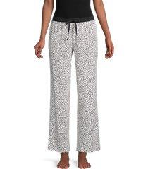 donna karan sleepwear women's printed pajama pants - coal grey - size l