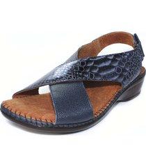 sandalia confort azul azul burana 849-017