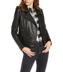 women's treasure & bond leather biker jacket