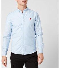 ami men's boutonne shirt - light blue - xl