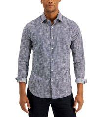 dkny men's hand drawn check shirt, created for macy's