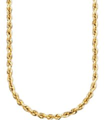 "14k gold diamond-cut rope chain 18"" necklace (2-1/2mm)"