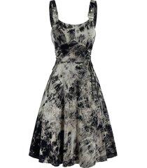 sleeveless tie dye print lace-up buckle strap dress