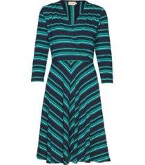 celia multistripe jurk knielengte blauw jumperfabriken