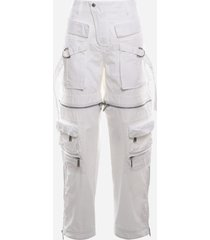 dsquared2 cotton aviator trousers with all-over zip