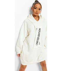 limited edition hoodie jurk, ecru