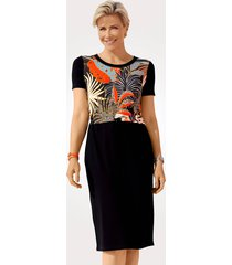 jurk mona oranje::zwart::turquoise
