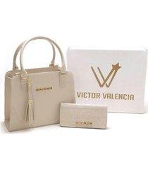 kit bolsa versalhes + carteira victor valencia feminina