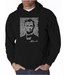 la pop art men's word art hoodie - abraham lincoln