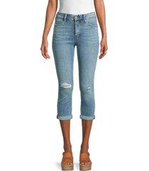 true religion women's high-rise destroy capri jeans - blazed indigo - size 25 (2)