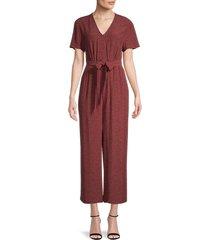rails women's jet printed jumpsuit - rust - size l