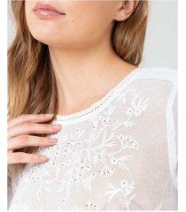 camiseta bordados calados