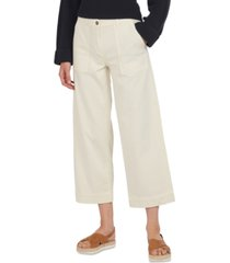 barbour summer cabin cropped wide-leg trousers