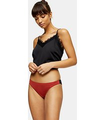 rust lace brazilian panties - rust