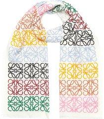 anagram print scarf