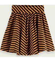 scotch & soda striped jersey short skirt