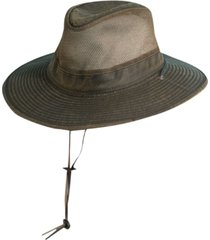 dorfman pacific men's weathered big-brim mesh safari hat