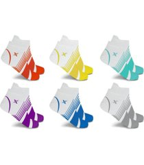 men's and women's edition ultra v-striped ankle compression socks - 6 pairs