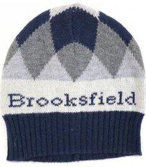 gorro azul brooksfield marsala