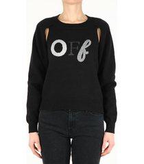off-white black logo sweater
