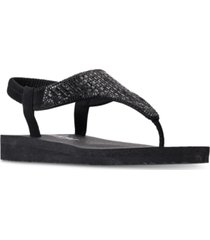 skechers women's meditation - rock crown flip-flop thong sandals from finish line