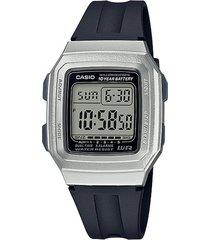 reloj casio f-201wam-7avdf negro resina