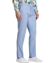 paisley & gray slim fit suit separates dress pants blue herringbone