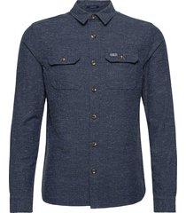 indigo nep lumberjack shirt skjorta casual blå superdry