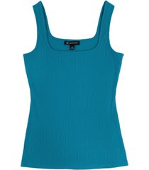 inc square neck rib tank, created for macy's