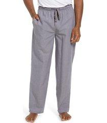 men's norstrom men's poplin pajama pants, size small - grey