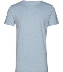 alder basic tee t-shirts short-sleeved blå knowledge cotton apparel