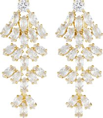cluster marquise cubic zirconia clip earrings