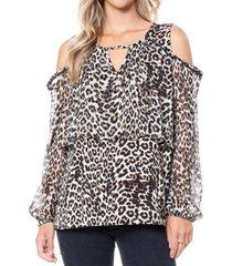 fever women's cold shoulder blouse