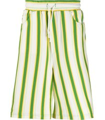 sunnei striped bermuda shorts - white