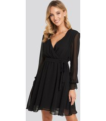 trendyol mesh contrast mini dress - black