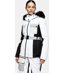 *black and white ski jacket by topshop sno - monochrome