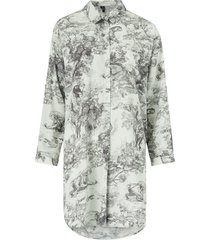 långskjorta vmelly animal oversized shirt
