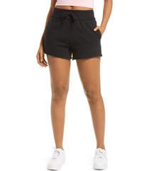 women's bp. french terry shorts, size small - black