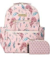 infant petunia pickle bottom x disney little mermaid ace diaper bag backpack - pink