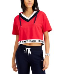 tommy jeans logo hoodie