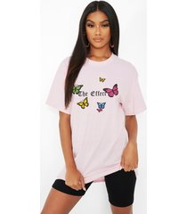 'the effect' butterfly print t-shirt, pink