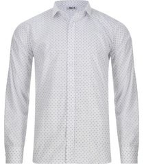 camisa mini print cruces color blanco, talla xs