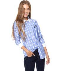 camisa celeste tommy hilfiger jacinta oxford stp shirt ls w2